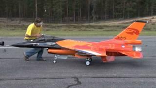 RC turbine jet F-16 scale 1:4