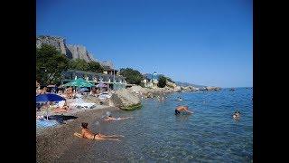 Форос.Дикий пляж,.Крым 2017.Можно загорать одному тут.Тут супер здорово на пляжах в Крыму