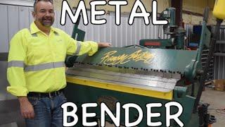 How to use a Metal Bender - Steel Sheetmetal Brake (Finger Break)