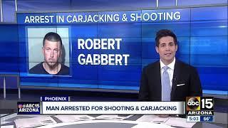 Armed carjacker shoots man, arrested after collision in Phoenix