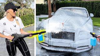Blasting Rolls Royce With A Foam Cannon!