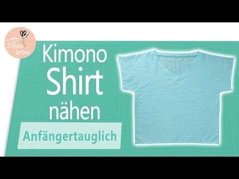 Kimono Shirt - Bluse nähen für Anfänger - ohne Schnittmuster