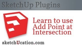 SketchUp Plugin Tutorial | Add Point at Intersection