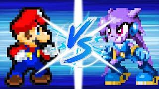 Mario Vs Lilac (Nintendo Vs Freedom Planet) (Pivot Sprites Battle)