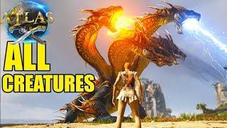 Atlas - SECRET HYDRA POWER? Every Creature & Boss In Atlas Game - Atlas Gameplay