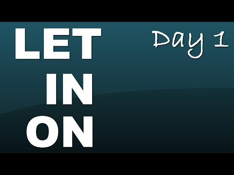 Phrasal verb: Let (someone) in on (something) - Day 1