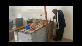 Cocina de concreto