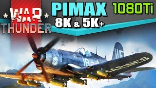 War Thunder on Pimax 8K & 5K+ with GTX 1080Ti - Benchmarks & best settings for smooth frame rate