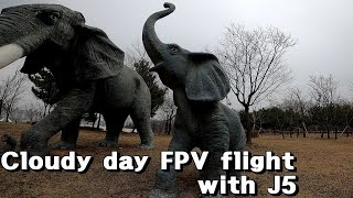 Cloudy day FPV flight with J5