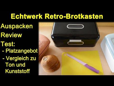 Echtwerk Retro-Brotkasten - Auspacken Review Test Platzangebot Vergleich Ton und Kunststoff Box