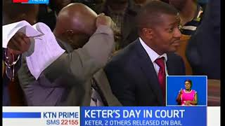 Alfred Keter and his co-accused released on bail after pleading not guilty to eleven counts of forge