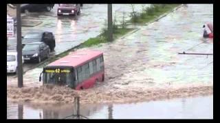 казань юж. трасса, наводнение после ливня.avi