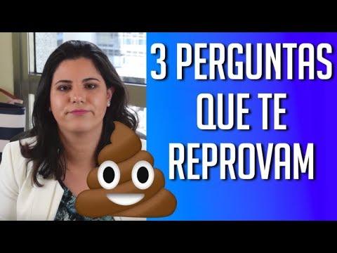 3 PERGUNTAS QUE TE REPROVAM NAS ENTREVISTAS DE EMPREGO E PROCESSOS SELETIVOS!