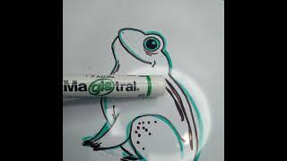 Dibujando con Azor: Dibujando una ranita con Magistral | Cómo dibujar una rana