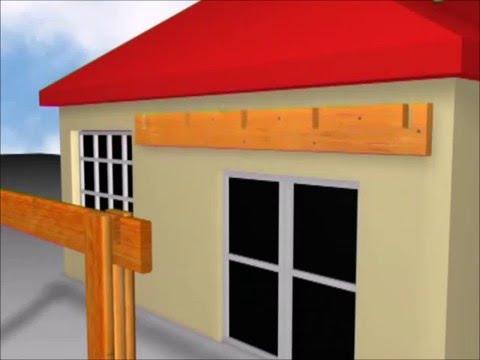Как сделать навес над входной дверью из дерева