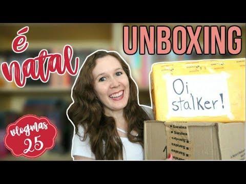 VLOGMAS #25 | Unboxing Especial de Natal + Amigo Secreto | Leituras de Deni