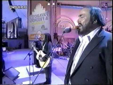 Baby Can I Hold You Tonight - Pavarotti and Tracy Chapman Live