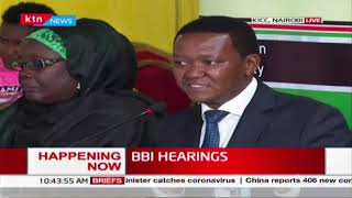 BBI Hearings: Maendeleo Chap Chap party leader Alfred Mutua presents his views on BBI