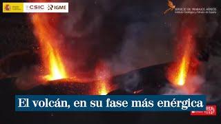 El volcán de La Palma está en su fase más enérgica hasta la fecha