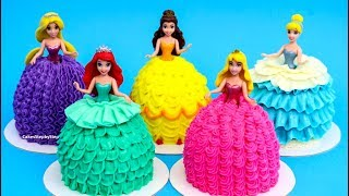 PRINCESS Dress Cupcakes / Magic Clip DOLLS Mini Cakes - Buttercream Decorating Ideas