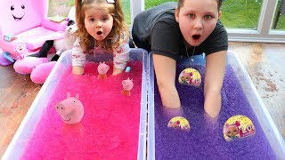 Super Slushy Gelli Baff Toy Surprise Challenge 2!! Ruby Rube and Bonnie