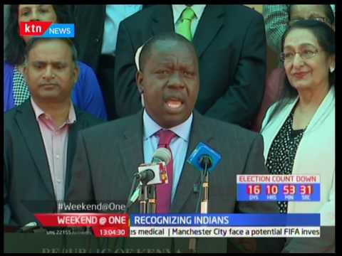 Interior CS Fred Matiang'i delivers President Uhuru Kenyatta's recognition of Indians in Kenya