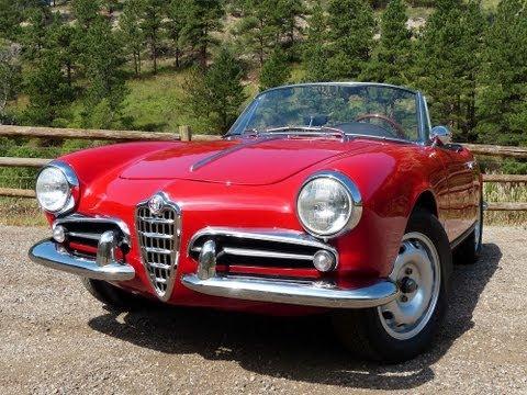 Sexy 1960 Alfa Romeo Giulietta Spider Revealed