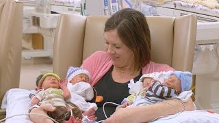 Mother Delivers Quadruplets at Sharp Mary Birch Hospital for Women & Newborns