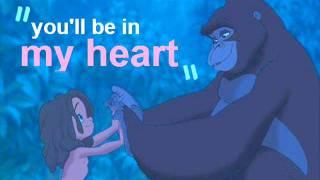 ♥ Sei dentro me + You'll be in my heart - Phil Collins - Tarzan Soundtrack