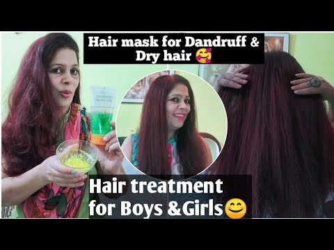 HAIR MASK FOR DANDRUFF & DRY HAIR 😊 +hair treatment for boys & Girls 🥰 With Home products
