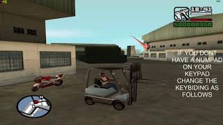 GTA San Andreas - How To Use The Forklift With Redefining The Keys