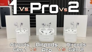 Airpods PRO VS Airpods 2 VS AirPods 1
