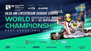 FIA Karting World Championship 2018 Sunday Junior / OK - Kristianstad Sweden