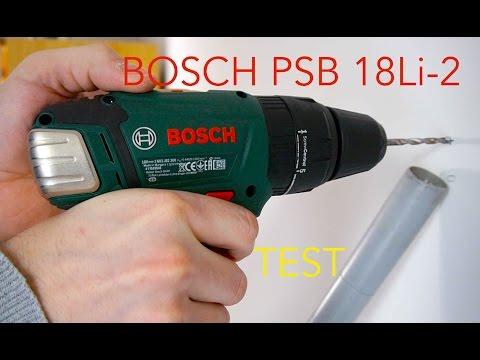 Bosch PSB 18 Li-2 im Test Schlagbohrer und Akkuschrauber