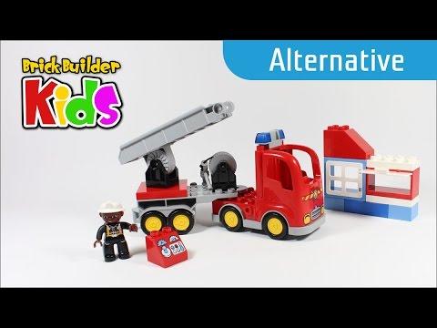 Vidéo LEGO Duplo 10592 : Le camion de pompiers