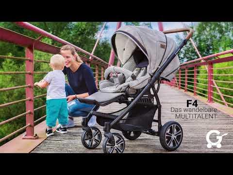 Gesslein Kinderwagen F4 | Funktionen | Demo | Handling & Zusammenlegen