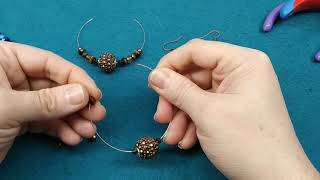 Large Hole Bead And Memory Wire Earring Tutorial