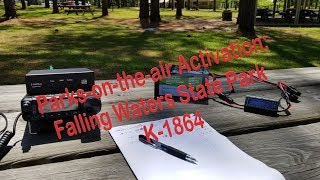 Parks-on-the-air POTA Activation At Falling Waters State Park K-1864 4/30/2018