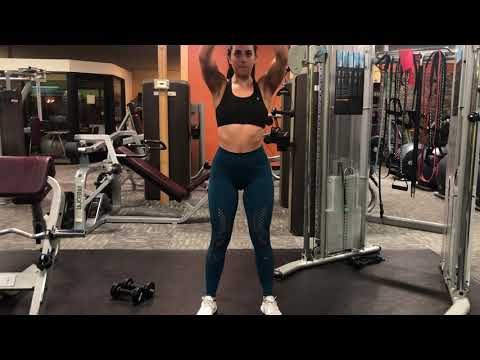 Overhead front raise with plate