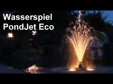 Oase PondJet Eco - Schwimmendes Wasserspiel für Ihren Gartenteich - Beeindruckend + energieeffizient