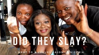 I went to a Luxury Salon In Lagos Nigeria - BUT was it up to standard? ft Asteria Hair