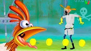 ЗАБЕГ СУМАСШЕДШЕЙ КУРИЦЫ Chicken Rider Смешная Мультик-Игра Веселое Видео для Детей for Kids