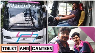 HOT Pongal , Biryani , Coffee in Bus   Bus Review   Parveen Travels B11R