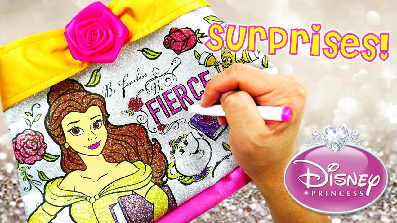 DIY Disney Princess Beauty and the Beast Belle Color N Style Purse and Surprises