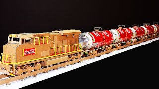 How to Make a Tanker Train  | Cargo Train | Container Train |Freight Train | from Coca Cola Cans