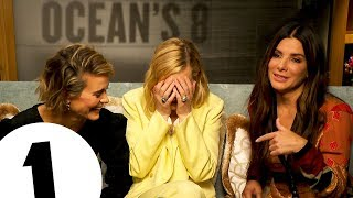 Thats The Sign For SHUT UP Oceans 8s Sandra Bullock, Cate Blanchett & Sarah Paulson Cause Chaos