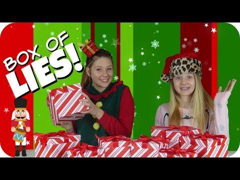 BOX OF LIES HOLIDAY EDITION    CHRISTMAS CHALLENGE 2017    Taylor and Vanessa