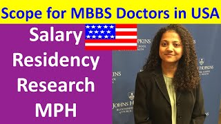 In America scope for MBBS doctor MBBS doctor salary USMLE in America Fee MPH USA. Visa for Doctor US