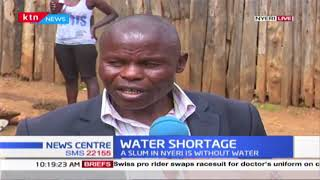 Water Shortage: A slum in Nyeri is without water