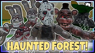 """HOW TO GET ALL 6 NEW BADGE """"HAUNTED FOREST BADGE"""" in THE FNAF OVERNIGHT 2 ROLEPLAY 